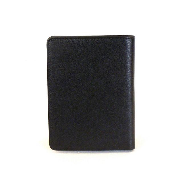 HGL Dokumenten- Etui Hochformat echt Leder schwarz 9749 zum ausklappen – Bild 2