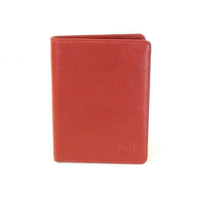 HGL Dokumenten Etui Hochformat echt Leder rot 9754 Kreditkartenfächer Scheinfach