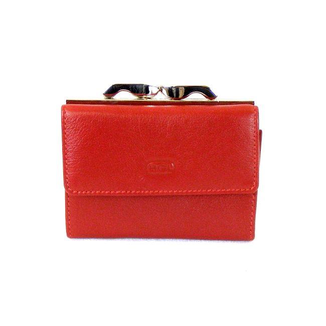 HGL Damen Geldbörse Bügelbörse echt Leder rot 9777 Kreditkartenfächer