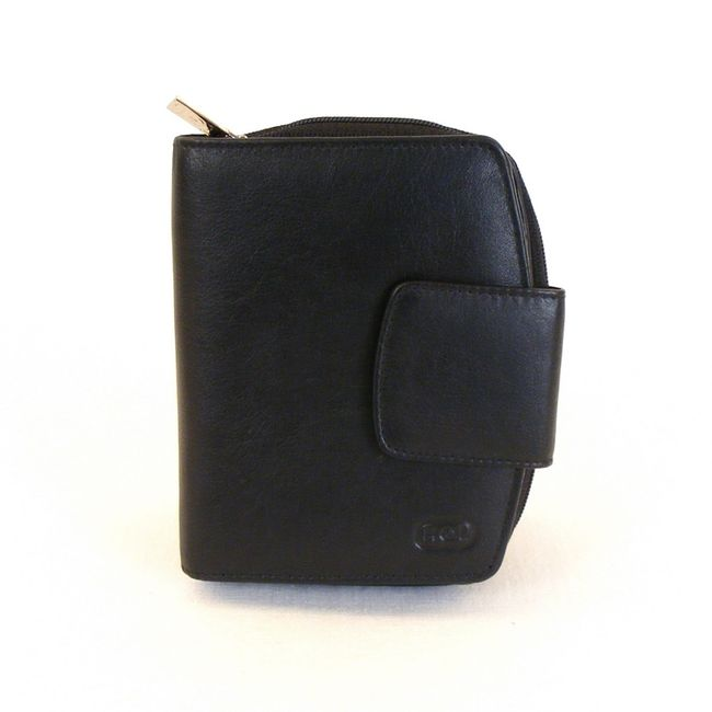 HGL Damen Geldbörse RV-Börse Leder schwarz 9782 – Bild 1
