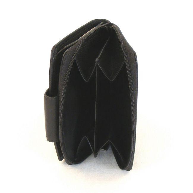 HGL Damen Geldbörse RV-Börse Leder schwarz 9782 – Bild 3
