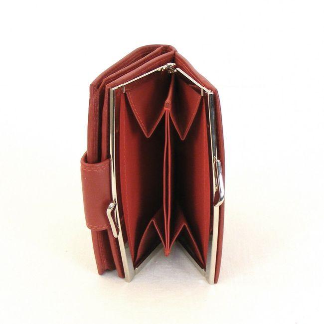 HGL Damen Geldbörse Bügelbörse echt Leder rot 9792 Kartenfächer ausklappbar – Bild 3