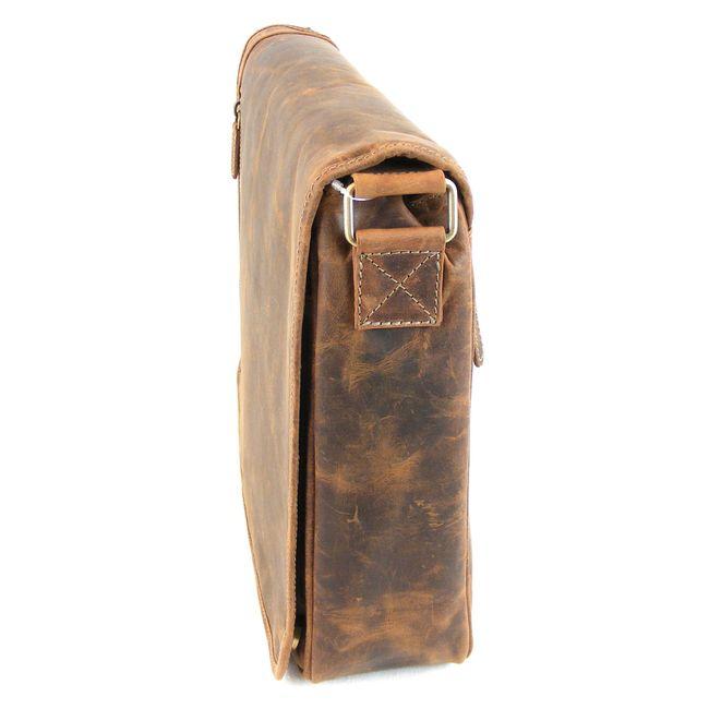 HGL Damen Tasche Überschlagtasche Echt-Leder natur 9820 Reißverschluss RV-Fach – Bild 2