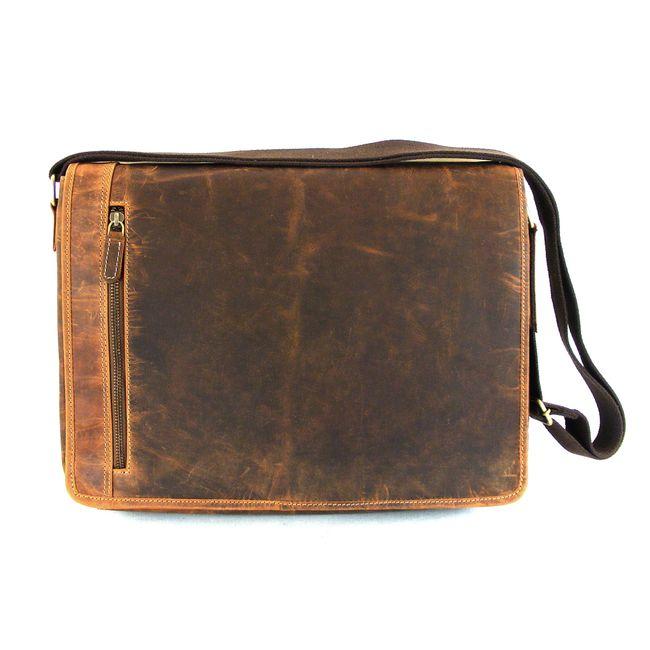 HGL Damen Tasche Überschlagtasche Echt-Leder natur 9820 Reißverschluss RV-Fach – Bild 1