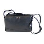 Pavini Damen Tasche Schultertasche Classics Leder schwarz 9855 Reißverschluss 001