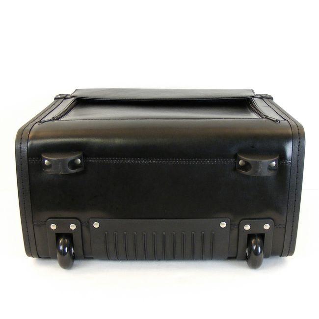 """Dermata Pilotenkoffer mit Fächern Laptoptasche 15"""" Echt-Leder schwarz 9930 – Bild 6"""