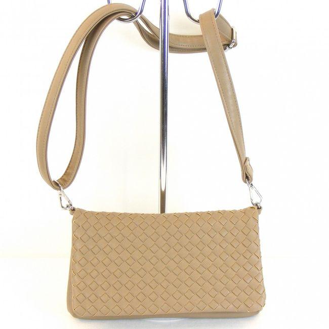 Fashionland Damen Tasche Überschlagtasche Synthetik taupe 9996