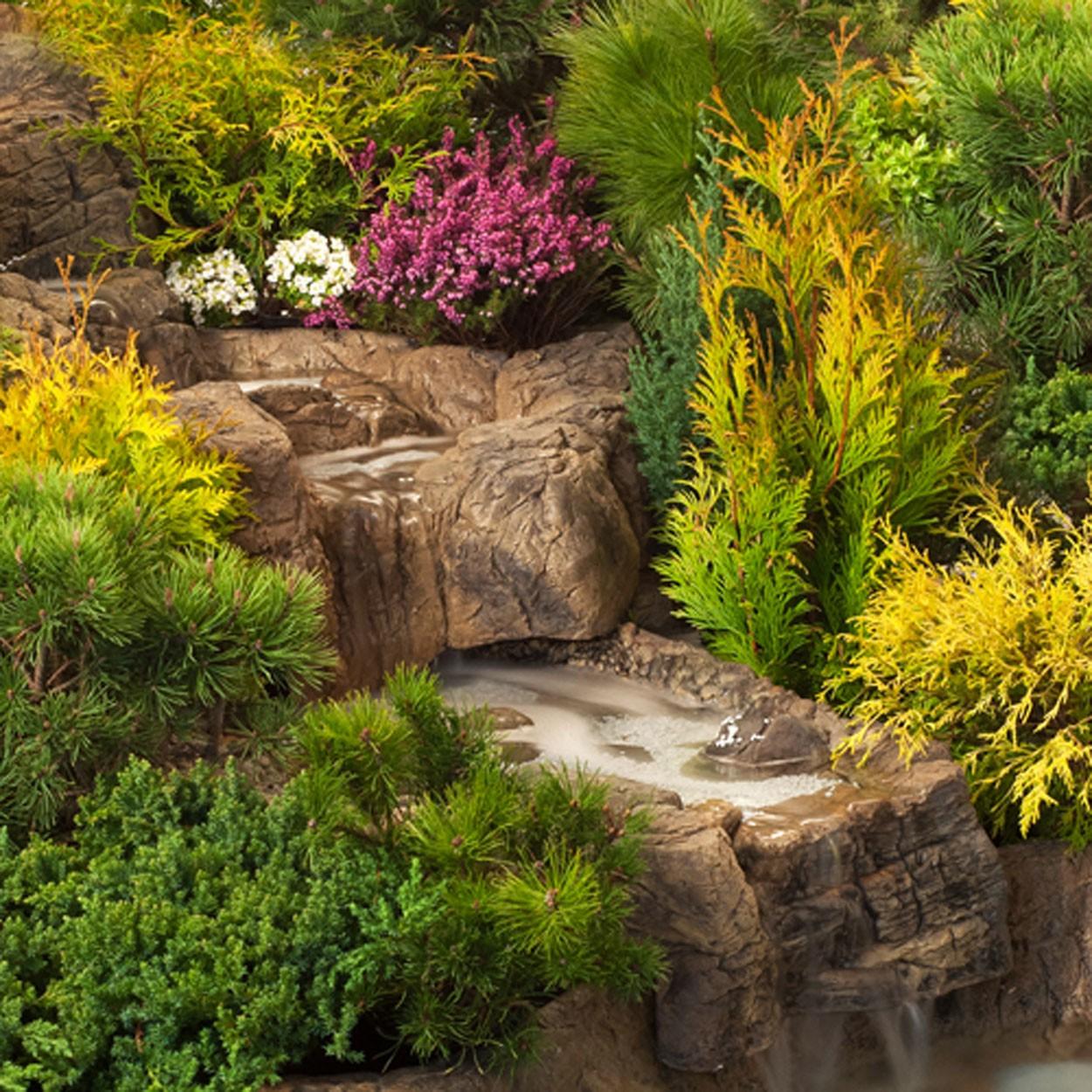 Bachlauf element auslauf klein steinoptik gartenteich wasserfall fif teich welt bachl ufe - Gartenteich klein ...