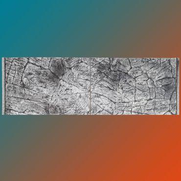 3d Aquarium Rückwand 160x60 cm SD-Line grey Terrarium FIF – Bild 1