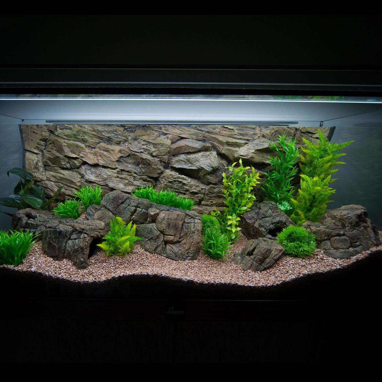 3d aquarium r ckwand f r vision 180 s line aquaristik welt. Black Bedroom Furniture Sets. Home Design Ideas