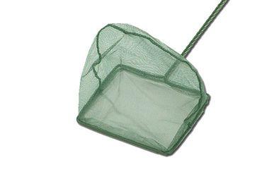 Aquarium Kescher Fischfangnetz grün 20x15 cm fein