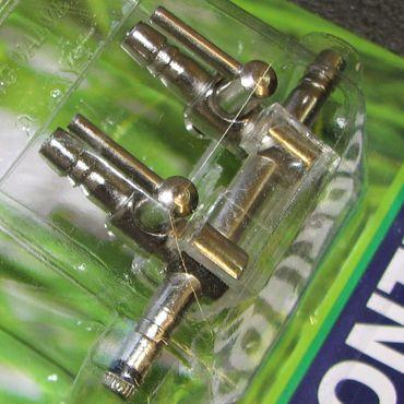 Luftverteiler 2 Wege Lufthahn 4/6 mm mit Schlauchhalter – Bild 2