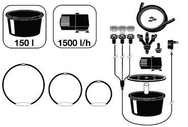 Ubbink Wasserspiel LED 3er Kugeln Granit  ID 124288 – Bild 2