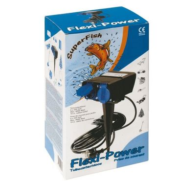 SuperFish Flexi-Power Gartensteckdose 4x 220V 10m Kabel