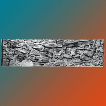 3d Aquarium Rückwand 200x70 cm S-Line grey ZWEITEILIG FIF – Bild 1