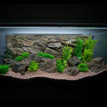 3d Aquarium Rückwand 200x70 cm S-Line ZWEITEILIG FIF – Bild 3
