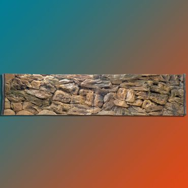 FIF 3d Rückwand 250x50 cm Aquarium Terrarium S-Line
