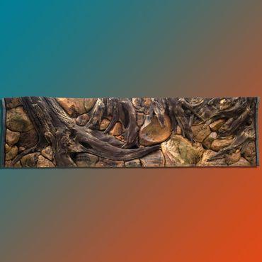 FIF 3d Rückwand 250x70 cm Aquarium Terrarium Luxus-Line – Bild 1