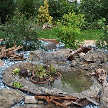 Fertigteich Gartenteich Steinoptik 190x120x65cm 450 ltr FIF – Bild 2