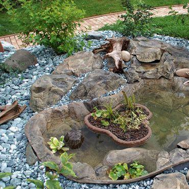 Fertigteich Gartenteich Steinoptik 190x120x65cm 450 ltr FIF – Bild 1