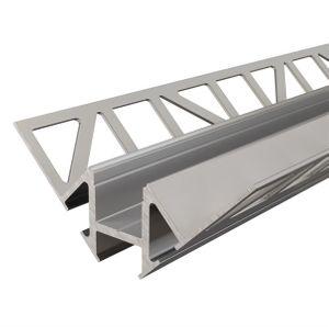 Fliesen-Profil Ecke innen EV-01-12 für 12 - 13,3 mm  Silber, eloxiert, 2500 mm