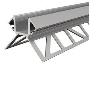 Fliesen-Profil Ecke außen EV-02-12 für 12 - 13,3 mm  Silber, eloxiert, 2500 mm