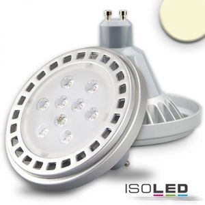 ISOLED ES111 GU10 COB SPOT, 10W, 30°, 800lm, 3000k warmweiss, dimmbar, EEK: A+