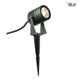 LED SPIKE, LED Erdspießleuchte, grün, IP55, warmweiß, 40°