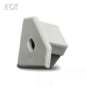 ISOLED Endkappe für Profil ECK10 silber, inkl. Kabeldurchführung