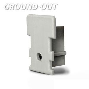 ISOLED Endkappe für Profil GROUND-OUT10 silber, inkl. Kabeldurchführung