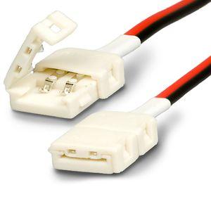 ISOLED LED Stripe Clip Kabelverbinder 2 polig, weiß für Breite 8mm