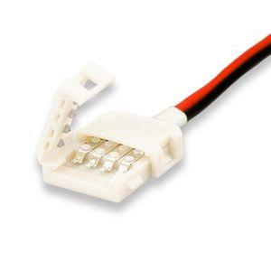 ISOLED LED Stripe Clip Kabelanschluss 2 polig, weiß für Breite 10mm