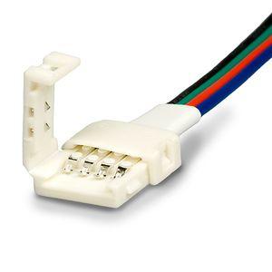 ISOLED LED Stripe Clip Kabelanschluss 4 polig, weiß für Breite 10mm