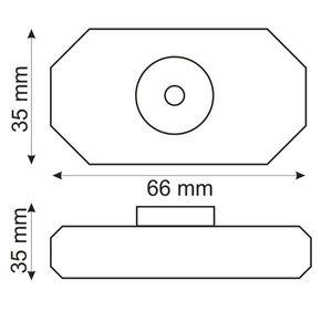 LED Drehdimmer weiß, 2A, max. 48 Watt, Rundstecker Anschluss