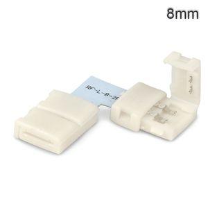ISOLED LED Stripe Clip Eck Verbinder 2 polig, weiß für Breite 8mm