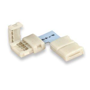 ISOLED LED Stripe Clip Eck Verbinder 2 polig, weiß für Breite 10mm