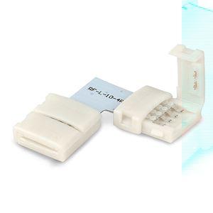 ISOLED LED Stripe Clip Eck Verbinder 4 polig, weiß für Breite 10mm