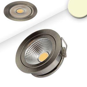LED MöbelEinbaustrahler COB mit Reflektor, 3W, nickel geb., warmweiß