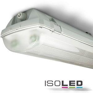 Feuchtraum-Wannengehäuse für ISOLED T8 Röhren 2x1500mm, IP66, ohne VG/Kabel