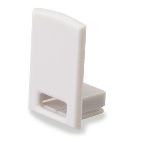 ISOLED Endkappe EC17 für SURF12 RAIL inkl. COVER4, mit Kabelausgang, PVC, grauweiß