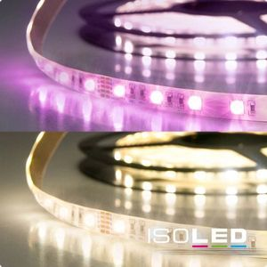 ISOLED LED Stripe SIL RGB+WW , 24V, 19W, IP20, 4in1 Chip, 120°, A, 2700K, 850lm, CRI:86