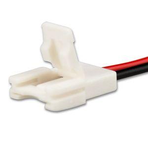 ISOLED LED Stripe Clip Anschluss Slim 2 polig, weiß für Breite 10mm mit 200mm Kabel