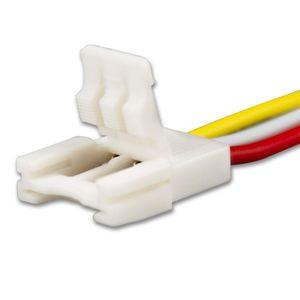 ISOLED LED Stripe Clip Anschluss Slim 3 polig, weiß für Breite 10mm, mit 200mm Kabel