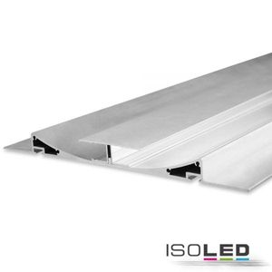 ISOLED LED-Trockenbauprofil DOUBLE CURVE, Silber, 200cm, Für max. 11mm LED-Streifen