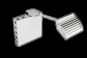NOVI 50 Power LED Displayleuchte 50Watt, 5000lm, 5700K kaltweiß Alu silber-grau
