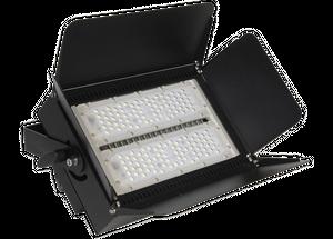 Messestrahler RENO Flutlicht 150 Watt Power LED 4000K neutralweiß, 16500lm, Alu, schwarz