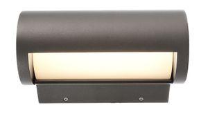 LED Außenwandleuchte Up&Down Segin Alu dunkelgrau matt, 3000K warmweiß, 370lm, inkl. LED Netzgerät, IP65