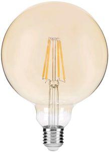 Avide LED Filament Globe G95 8W Dimmbar, Amber Vintage, E27, warmweiß
