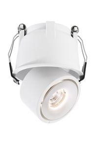 LED Deckeneinbauleuchte Spot 33° Uni II Mini, dreh-/schwenkbar, CRI 90, 3000K warmweiß, 670lm, Alu weiß