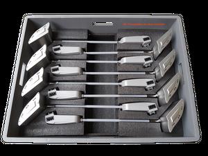 Transportbox für 8 Stück NOVI, LUMI oder META LED Displayleuchten mit Deckel